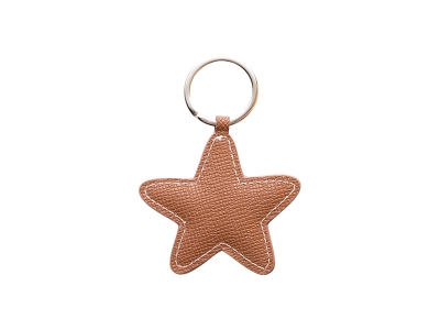 PU Leather Key Chain(Star,Brown)