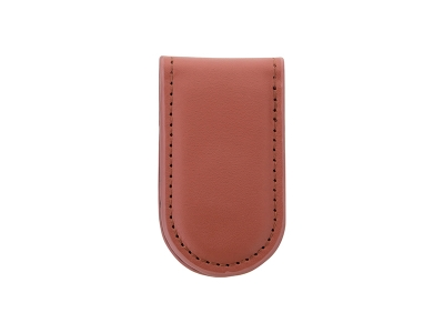 PU Leather Money Clip(Credit Shape, Brown)