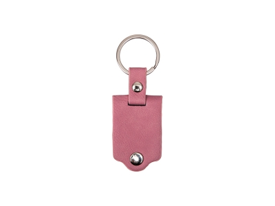 Sublimation Keychain with Engraved Leather Cover(3.5*7.5cm, Pink)