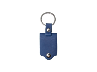 Sublimation Keychain with Engraved Leather Cover(3.5*7.5cm, Dark Blue)