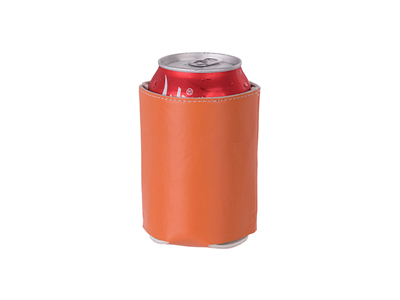 Leather Can Cooler(Orange)