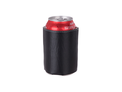 Leather Can Cooler(Black)