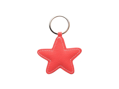 PU Leather Key Chain(Star,Red)
