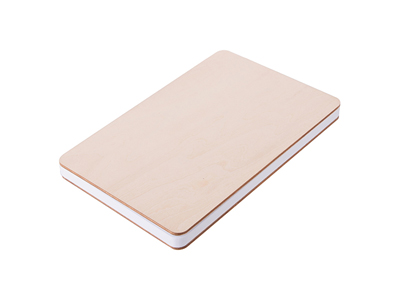"""A5 Plywood Cover Notebook(14.1*21cm) 