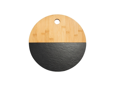 Bamboo with Slate Cutting Board(Round, 30cm)