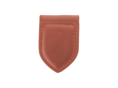 PU Leather Money Clip(Award Shape, Brown)