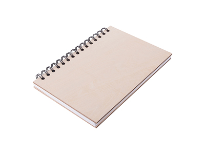 """A5 Wiro Plywood Cover Notebook(14.1*21cm) 