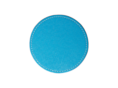 PU Leather Round Mug Coaster(Φ9.5cm,Light Blue)