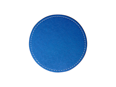 PU Leather Round Mug Coaster(Φ9.5cm,Blue)